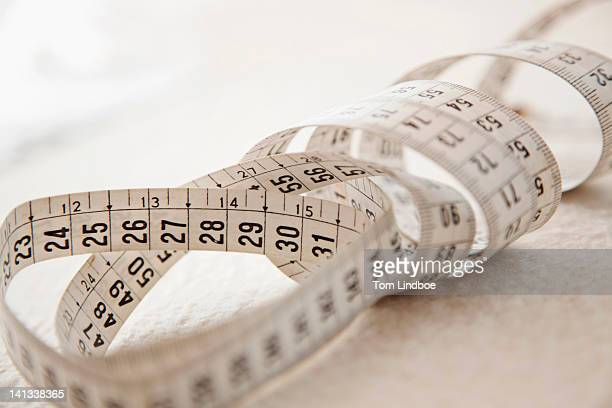 Close up of measuring tape