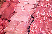 close up meat supermarket raw meat