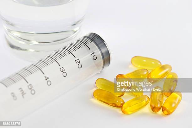 Close Up Of Medicine And White Background