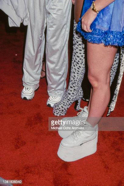 Close up of Mel C', Mel B's, and Emma Bunton's footwear at the 14th Annual MTV Video Music Awards at Radio City Music Hall in New York City, US, 4th...