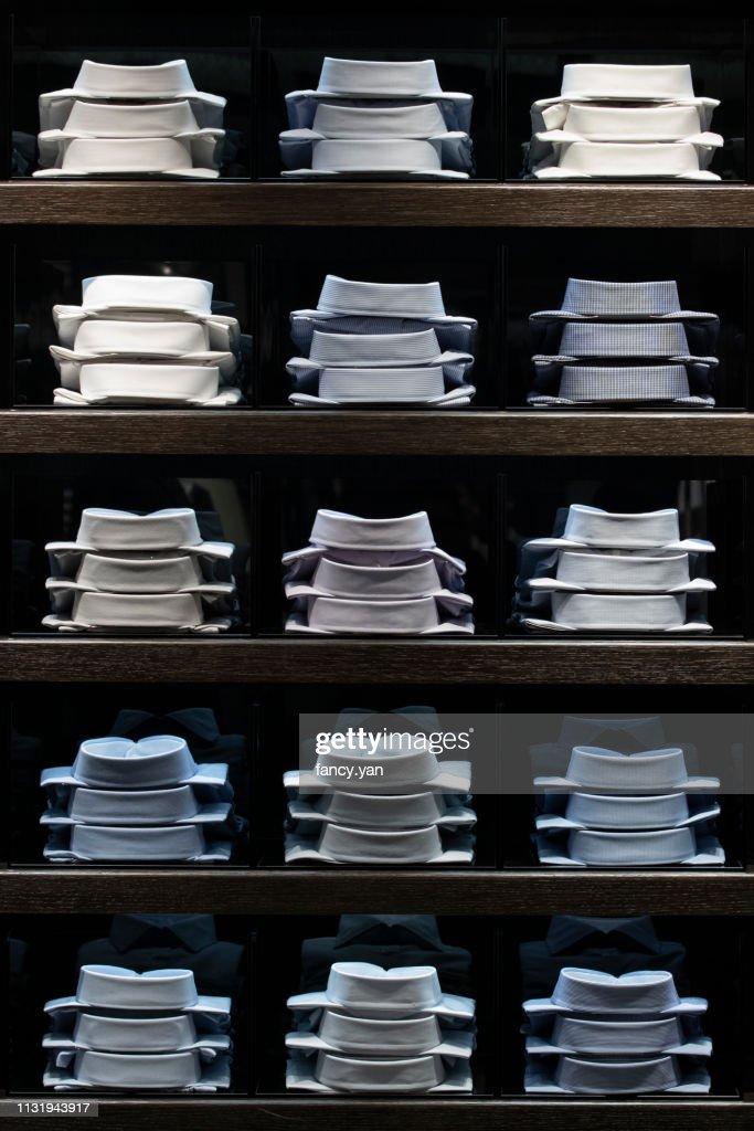 Close up of men's shirts : ストックフォト
