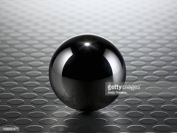 Close up of metal ball
