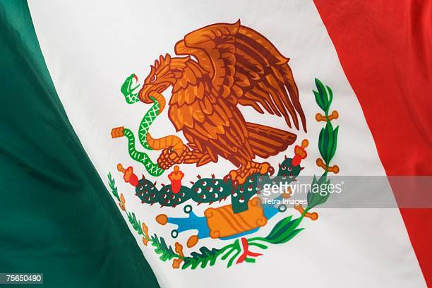 close up of mexican flag - bandera mexicana fotografías e imágenes de stock