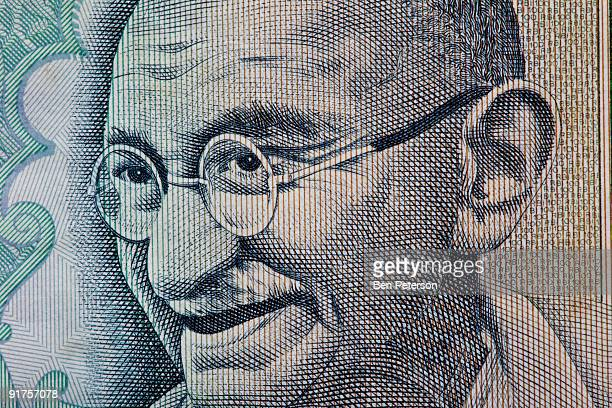 Close up of Mohandas Karamchand Gandhi