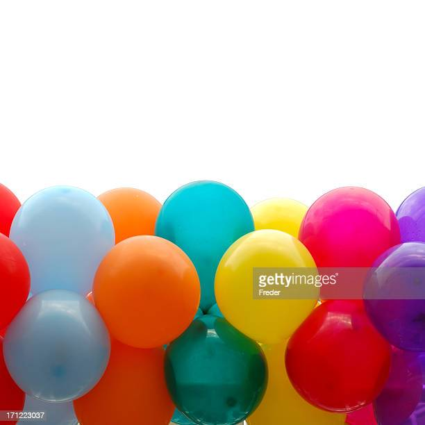 Close up of Multicolored party balloons
