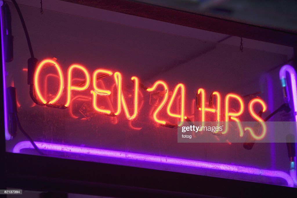 Close up of neon sign : Stock Photo