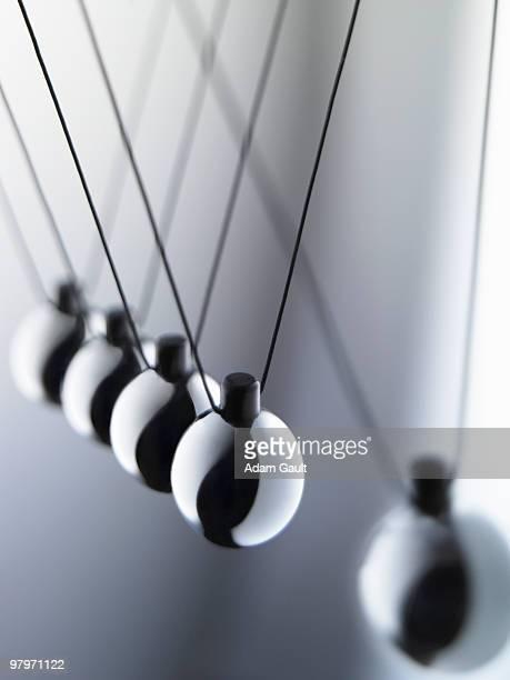 Close up of Newton�s cradle
