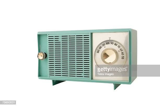 close up of old fashioned clock - radio stock pictures, royalty-free photos & images