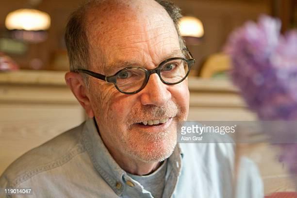Close up of older man smiling