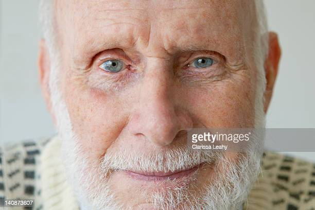 close up of older mans face - vulnerability stock pictures, royalty-free photos & images