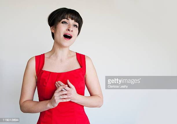 close up of opera singer - cut out dress stock pictures, royalty-free photos & images