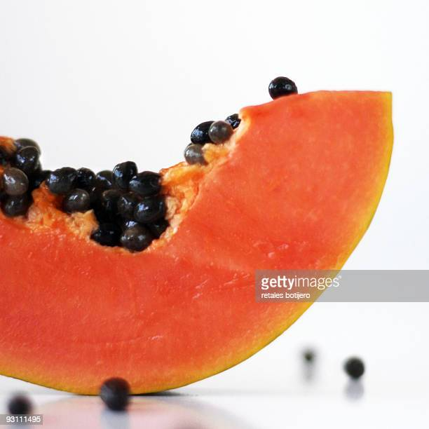 close up of papaya - papaya stock photos and pictures