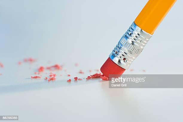 Close up of pencil eraser