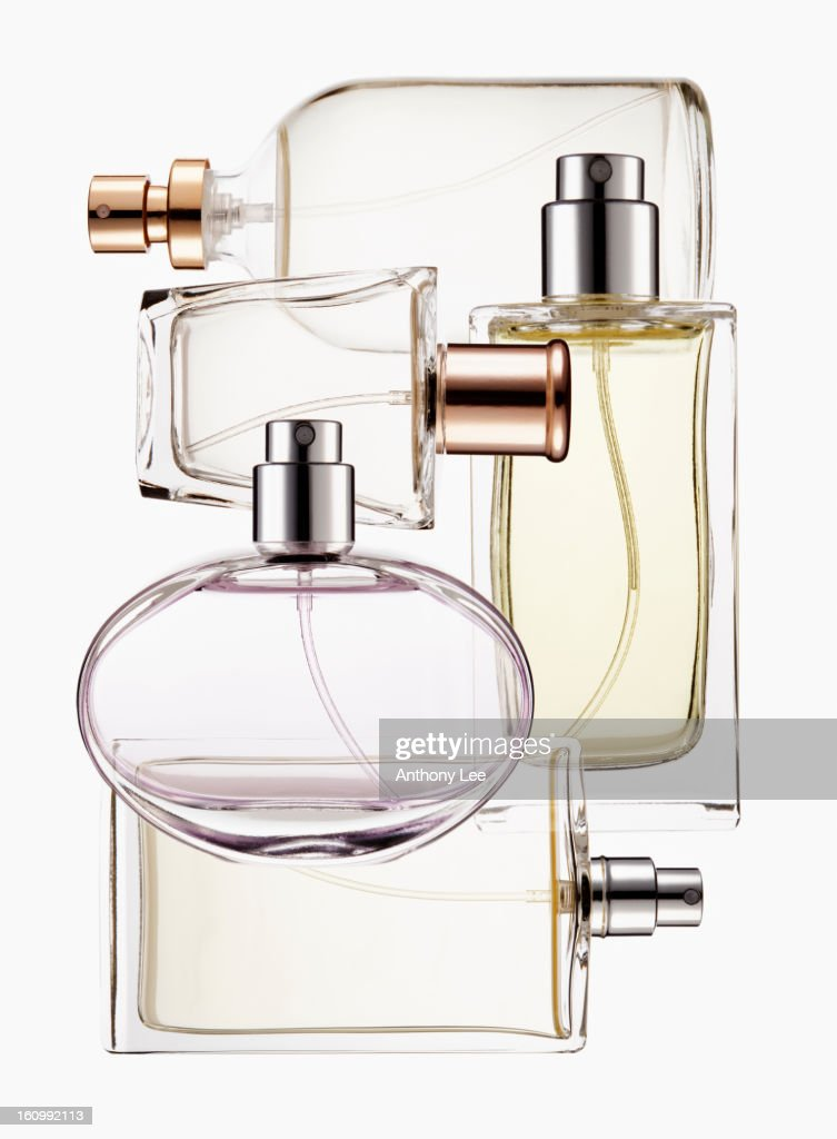 Close up of perfume bottles : Stock Photo