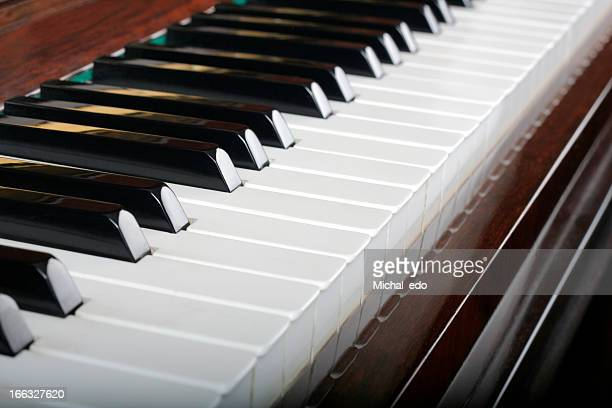 close up of piano keys, traditional - grand piano stock photos and pictures
