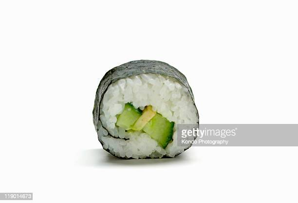 Close up of piece of sushi