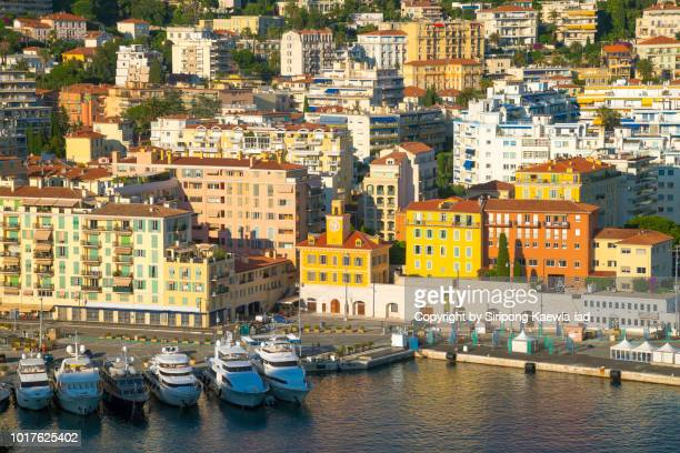 close up of port de nice-ville, france. - copyright by siripong kaewla iad stock photos and pictures