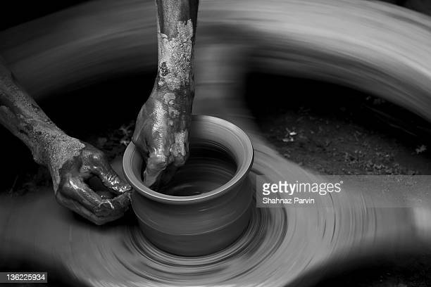 close up of potter - savar stock pictures, royalty-free photos & images
