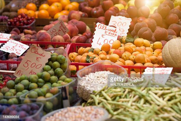 Close up of produce for sale