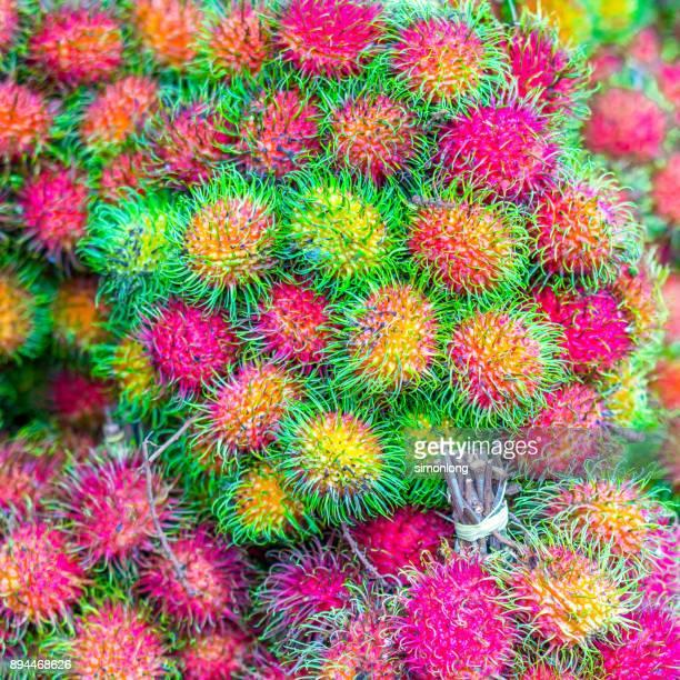close up of Rambutan fruits