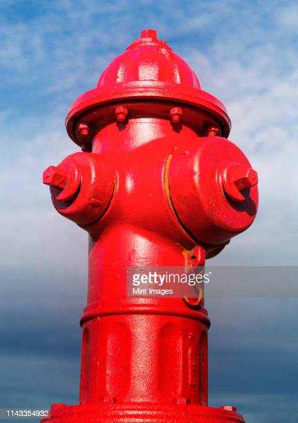 close up of red fire hydrant - fire hydrant stock pictures, royalty-free photos & images