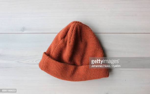 Close Up Of Red Knit Hat