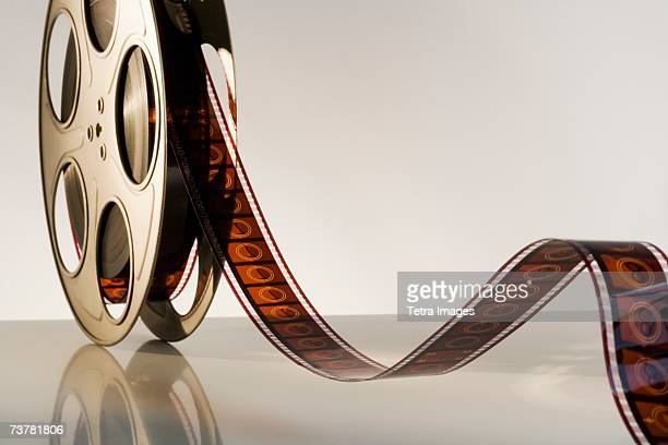 Close up of reel of movie film