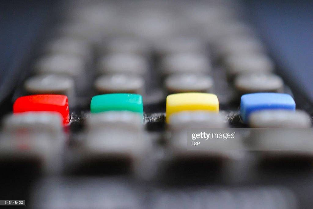 Close up of remote control : Stock-Foto