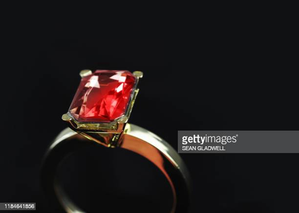 close up of ruby ring - stone object stock pictures, royalty-free photos & images