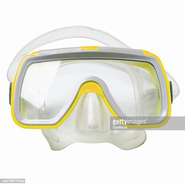 Close up of safety goggles