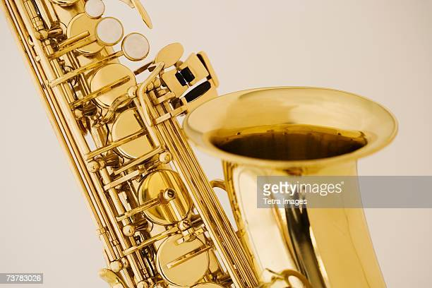 close up of saxophone - saxophone stock pictures, royalty-free photos & images