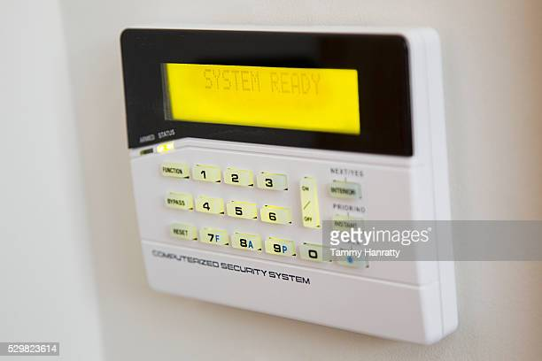 Close up of security system