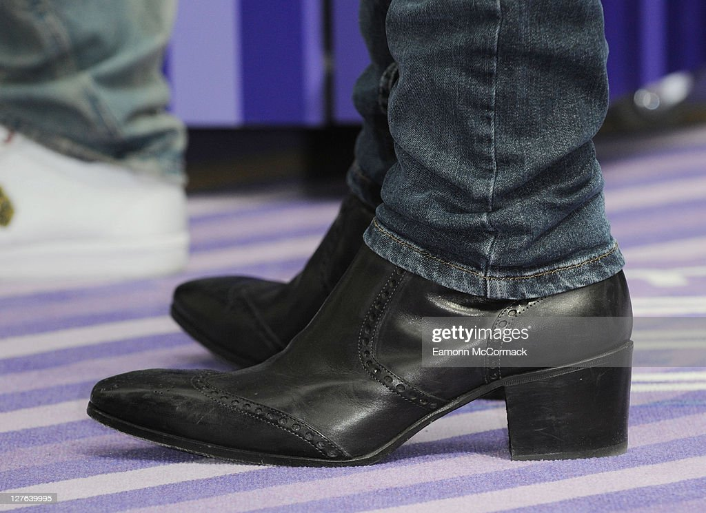6ef1ac2546a A close up of shoes worn by Lee Ryan as he competes to break a ...