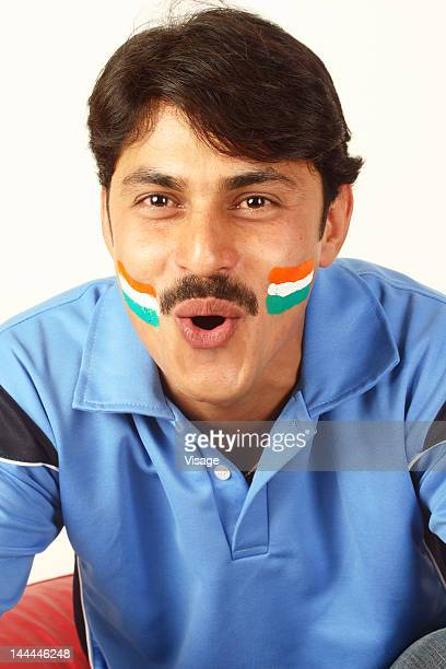 Close up of shot of a cricket fan