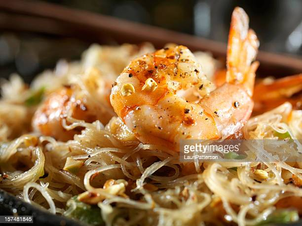 Close up of Shrimp Pad Thai