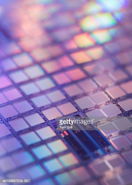 Close up of silicon wafer