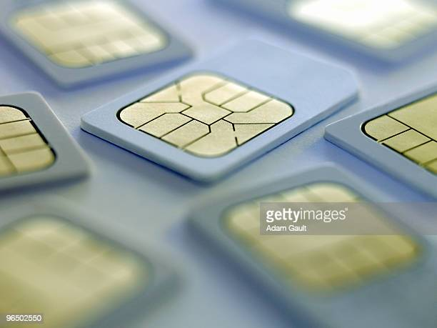 Close up of sim cards