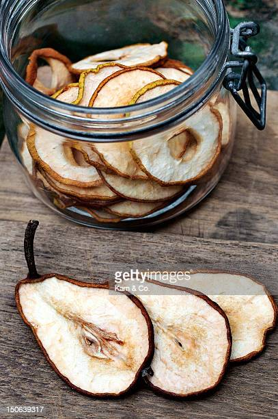 Close up of sliced pear