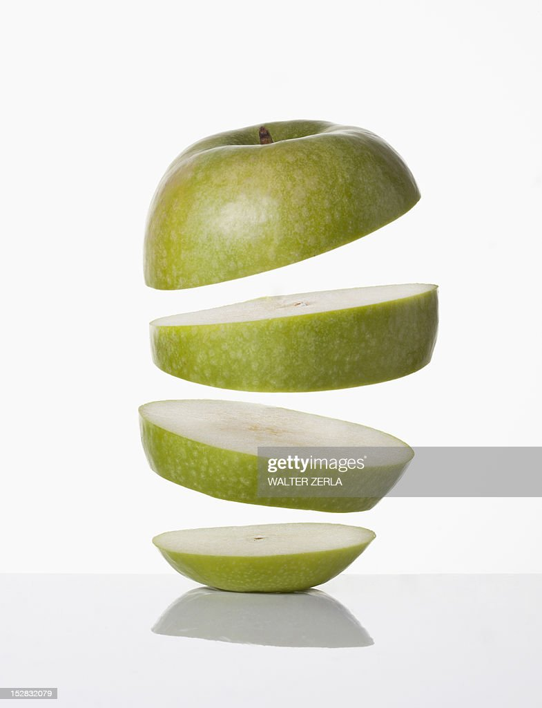 Close up of slices of apple : Stock Photo