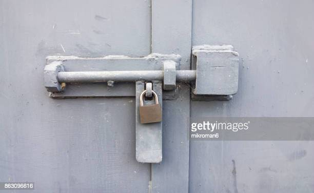 close up of sliding bolt - locking stock pictures, royalty-free photos & images