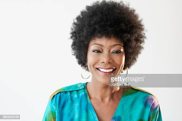 Close up of smiling African American woman