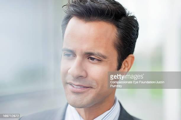 Close up of smiling businessman