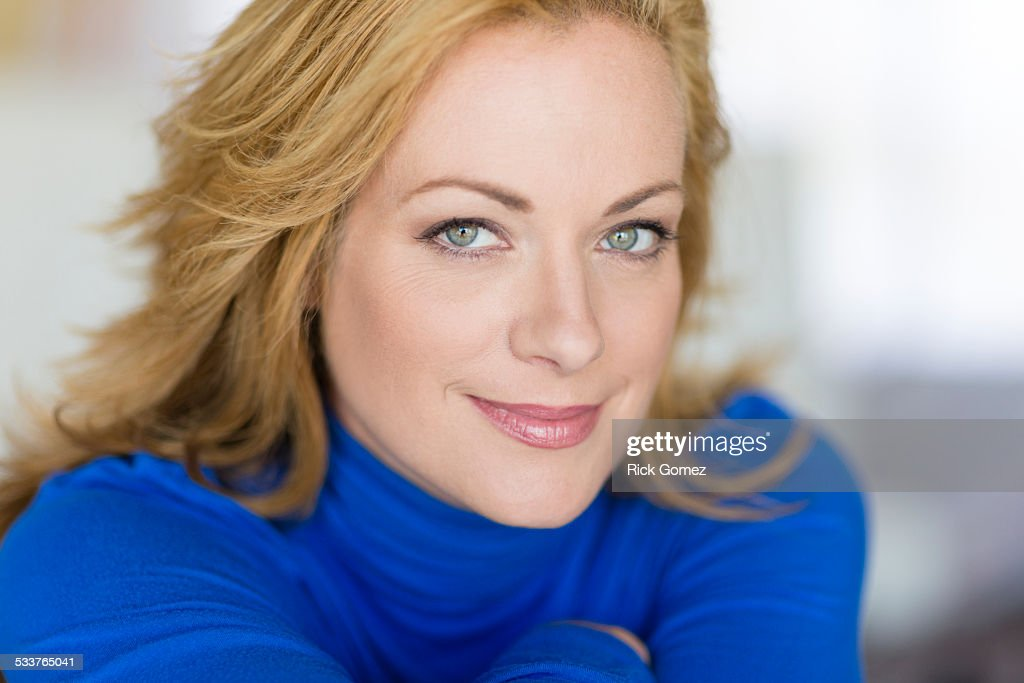 Close up of smiling Caucasian woman : Foto stock