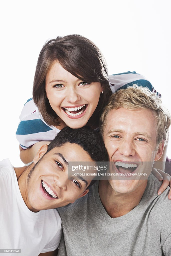 Close up of smiling friends : Stock Photo