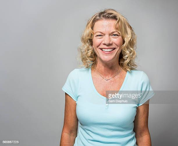 Close up of smiling older woman
