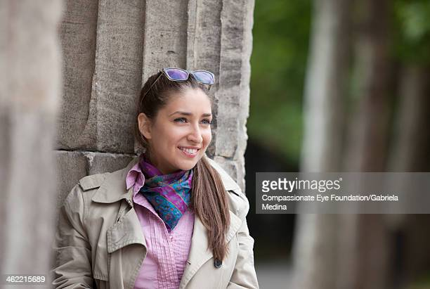 close up of smiling woman outdoors - cef do not delete stock pictures, royalty-free photos & images