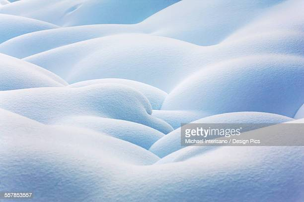 Close up of snow covered round mounds