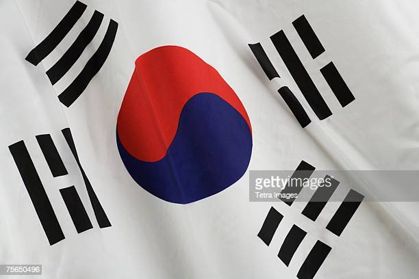 Close up of South Korean flag