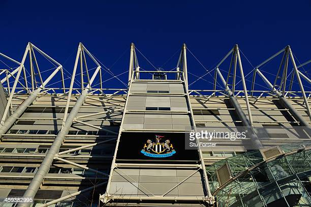 Close up of St James' Park before the Barclays Premier League match between Newcastle United and Stoke City at St James' Park on December 26, 2013 in...