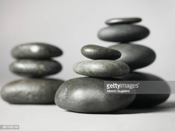 Close up of stacked stones